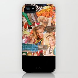 magazine collage iPhone Case