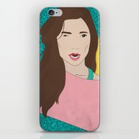 80s iPhone & iPod Skins featuring 80s Gal by Levi Allred
