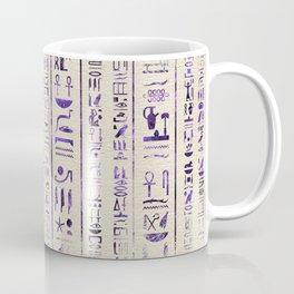 Amethyst Egyptian hieroglyphics on canvas Coffee Mug