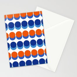 Vibrant Blue and Orange Dots Stationery Cards