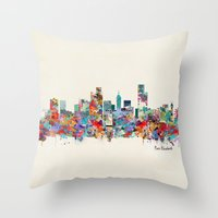 south africa Throw Pillows featuring Port Elizabeth south africa by bri.buckley