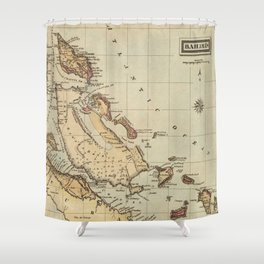 Vintage Map of The Bahamas (1823) Shower Curtain