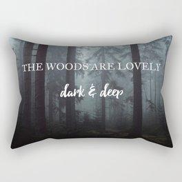 Dark Wood Rectangular Pillow