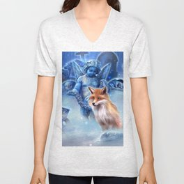Spirit of the Fox Unisex V-Neck