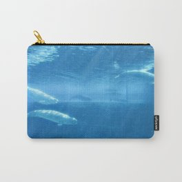 Ocean Blue Beluga Pairs Version 2 Carry-All Pouch