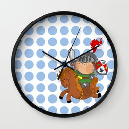 little knight with his horse Wall Clock