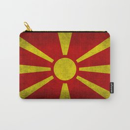 "Flag of Macedonia in ""Super Grunge"" Carry-All Pouch"
