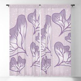 Take It Easy Purple Plants Blackout Curtain