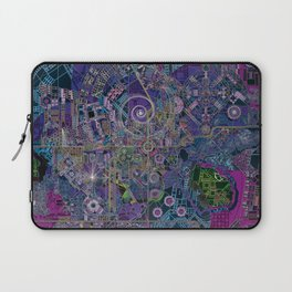 """""""non-existing"""" city """"existing"""" map Laptop Sleeve"""