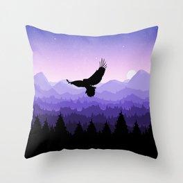 Eagle Skyline Throw Pillow