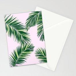 palm fronds on pink background Stationery Cards