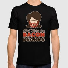 Bacon Beard (women's version) Mens Fitted Tee Black MEDIUM