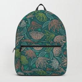 Bohemian Floral in Teal Backpack
