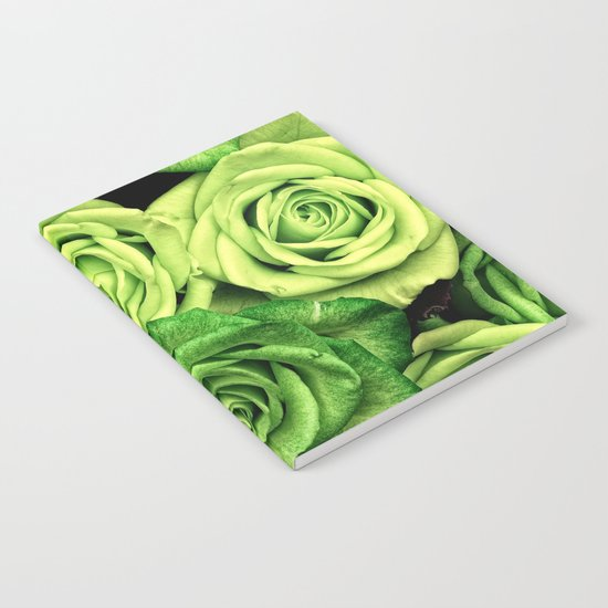Green Roses Notebook