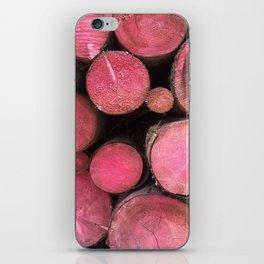 pink woods iPhone Skin
