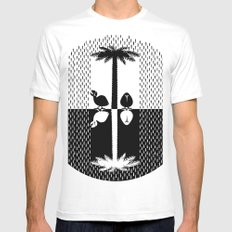 Waiting For The End White MEDIUM Mens Fitted Tee