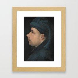 Posthumous Portrait of Wenceslas of Luxembourg, Duke of Brabant ca. 1400 - 1415 Framed Art Print