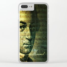 Wolfgang Amadeus Mozart Clear iPhone Case