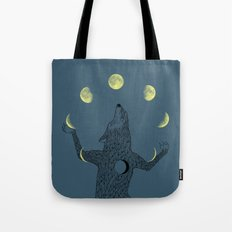 Moon Juggler Tote Bag