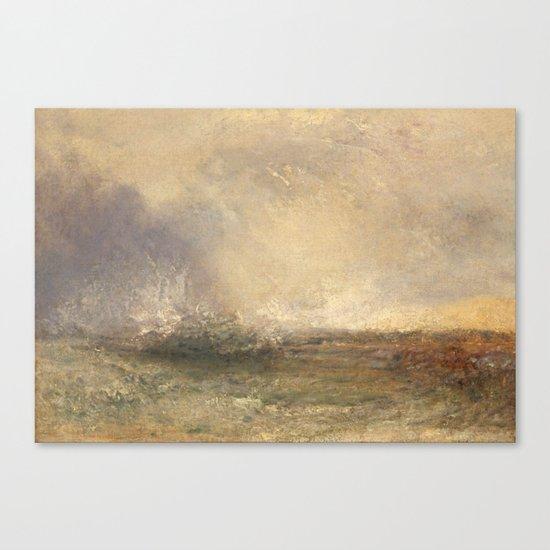 Turner's perfect Storm Canvas Print