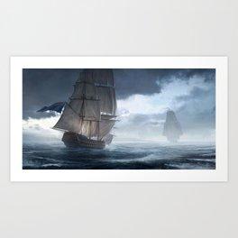 HMS Vanguard Art Print