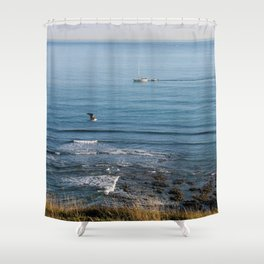 Afternoon by the Sea Shower Curtain