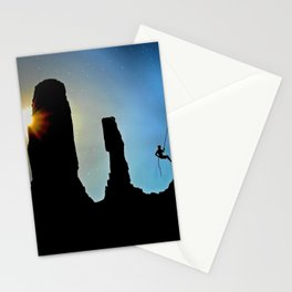 Rock Climbing Mountaineer Stationery Cards