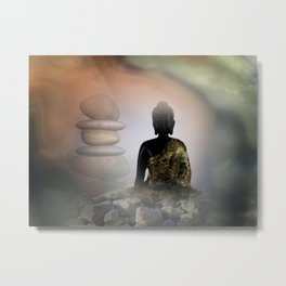 silence and meditation -4- Metal Print