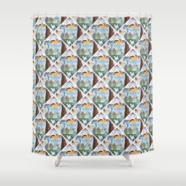 Cryptid Land Shower Curtain