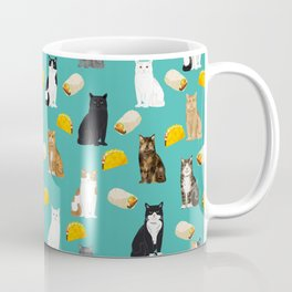 Cat breed tacos and burritos cute kitty lover pet gifts must have mexican food night Coffee Mug