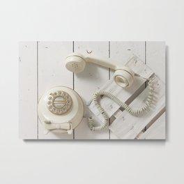Old Telephone Metal Print