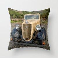 austin Throw Pillows featuring Austin 7 by Adrian Evans