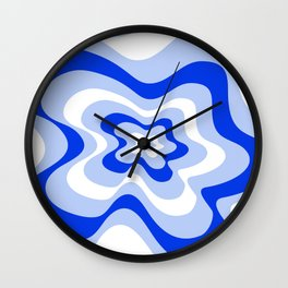 Abstract pattern - blue and white. Wall Clock
