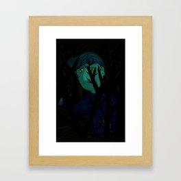 Navigating the dark Framed Art Print