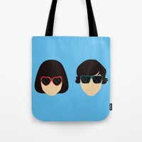 submarine Tote Bags featuring Submarine by Loverly Prints