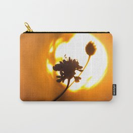 Sun hiding behind a flower 2 Carry-All Pouch