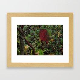 Foliage Rust Framed Art Print