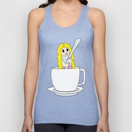 Biondina at coffee time Unisex Tank Top