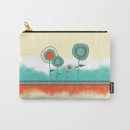 Four Wild Flowers Carry-All Pouch