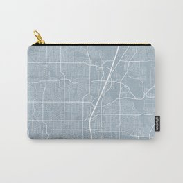 Plano Map, USA - Slate Carry-All Pouch