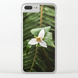 Trillium Flowers Pacific Northwest - Nature Photography Clear iPhone Case