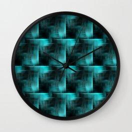 Mint & Black Pattern Wall Clock
