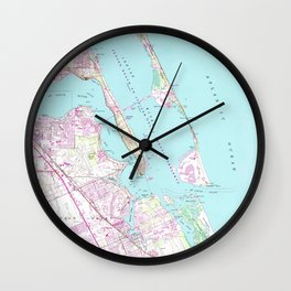 Vintage Map of Port St Lucie Inlet (1948) Wall Clock