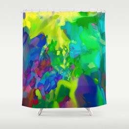 Yellow Lyrical Abstraction  Shower Curtain