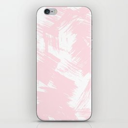 Blush pink white modern watercolor brushstrokes iPhone Skin