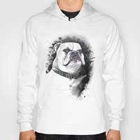 bulldog Hoodies featuring Bulldog by kitara