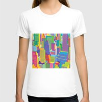 cityscape T-shirts featuring Cityscape windows by Glen Gould