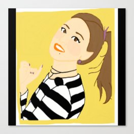 Knock Knock! Chaeyoung Yellow Canvas Print