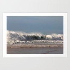 Strong Shorebreak Art Print