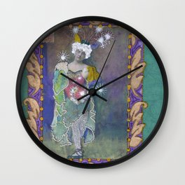 Steampunk Circus Girl Wall Clock